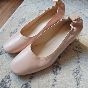 Pale Rose Everlane Day Heels AMAZING CONDITION